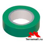 Изолента ПВХ, 19 мм х 25 м, зеленая