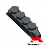 Колодка 4-ая Макел 3гс/4 каучуковая