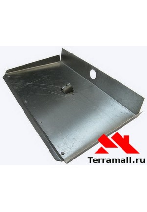 Лопата снегоуборочная алюминиевая 500х375мм, 3-бортная, с накладкой, без черенка