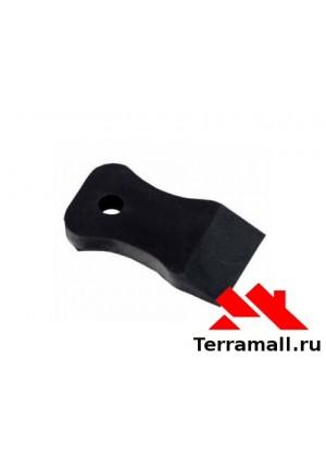 Набор шпателей Спарта 40-60-80 мм, черная резина, 3 шт.