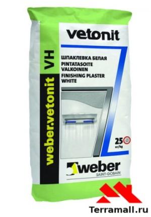 Вебер Ветонит ВХ шпаклевка влагостойкая финишная белая 20 кг Vetonit VH