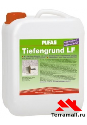 Pufas Tiefengrund LF грунт глубокого проникновения гидрозол-акрилат (5л)