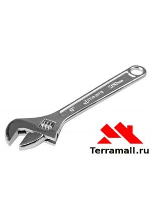 Ключ разводной Спарта 250 мм, хромированный