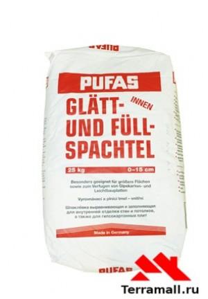 Пуфас N 3 шпаклевка для выравнивания неровностей 20 кг