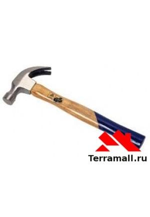 Молоток-гвоздодер 600г деревяная ручка