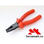 Пассатижи 160 мм красная ручка металист
