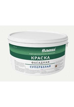 """Краска ВД-АК фасадная супербелая """"Люкс"""" 14 кг"""