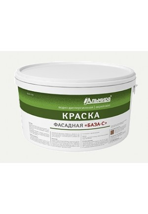 Краска ВД-АК фасадная База-С под колеровку 14 кг