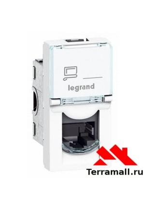 Legrand Mosaic розетка компьютерная RJ45 UTP кат5е 1мод белая