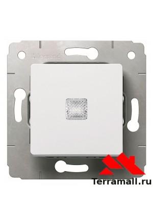 Выключатель Легранд внутренней установки, 1-клавишный, белый с подсветкой