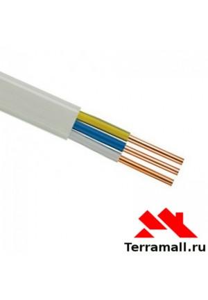 Провод ПУНП 3х1.5 метр погонный, кабель ПВВП сечения 3х1.5 мм. кв.