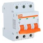 Автоматический выключатель ВА47-29 3Р 6А, 10А,16А, 20А, 25А, 32А, 40А, 50А, 63А 4,5кА TDM