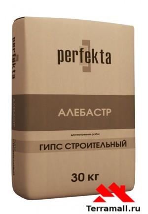 Алебастр 30 кг Перфекта, гипс строительный