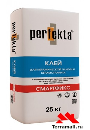 Смартфикс клей для керамической плитки и керамогранита перфекта 25 кг