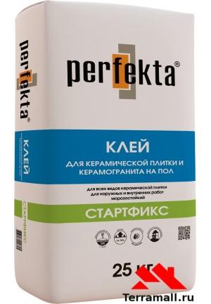 Стартфикс клей для керамической плитки и керамогранита перфекта  25 кг