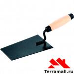 Кельма отделочника, стальная, деревянная усиленная ручка 86241
