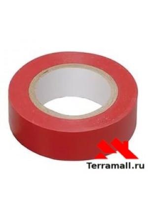 Изолента  красная ПВХ Сибртех 19 мм х 20 м, 180 мкм