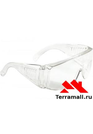 Очки защитные открытого типа Сибртех, прозрачный ударопрочный поликарбонат
