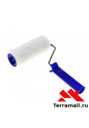 Валик Сибртех из искусственного меха с ручкой полиэстер, 150 мм, ворс 15 мм, D - 48 мм