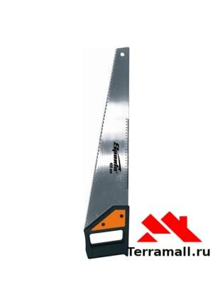 Ножовка по дереву Спарта 500 мм, 5-6 TPI, каленый зуб, линейка, ручка пластик