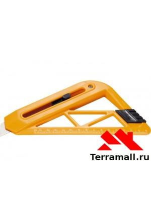 Нож Спарта с выдвижным лезвием и линейкой 18 мм