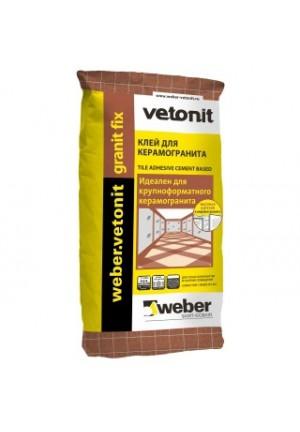 Вебер Ветонит Гранит Фикс  клей для керамогранита 25 кг. Vetonit Granit Fix
