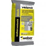Клей Вебер ветонит блок 25 кг для для блоков vetonit BLOCK