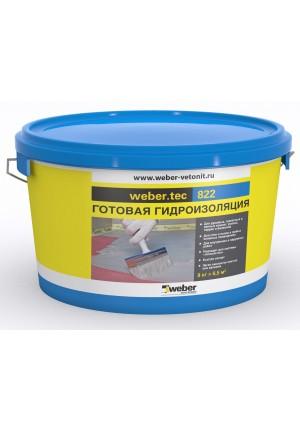 Гидроизоляция готовая к применению Ветонит вебер тек 822 24 кг