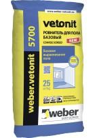 Вебер ветонит 5700 базовый наливной пол 25 кг, Weber Vetonit