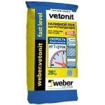 Вебер Ветонит фаст левел наливной пол  25кг  цементный  Vetonit FAST LEVEL
