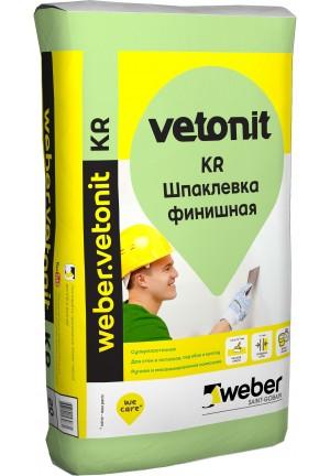 Вебер Ветонит КР шпаклевка финишная для сухих помещений  20 кг Vetonit kr