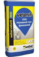 Вебер Ветонит 3100 финишный самовыравнивающийся наливной пол 20 кг Vetonit