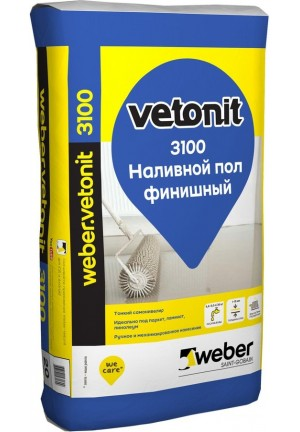 Вебер Ветонит 3100 финишный самовыравнивающийся наливной пол 20 кг