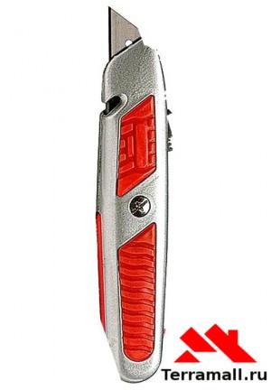 Нож Матрикс 18 мм, выдвижное трапециевидное лезвие, металический корпус