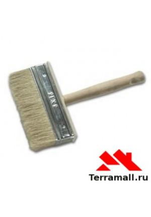Кисть-макловица 30х70 мм, натуральная щетина, деревянный корпус, деревянная ручка 84070